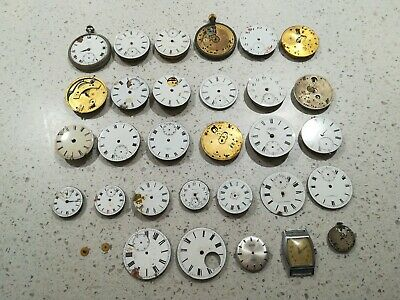 JOB LOT OF ANTIQUE POCKET WATCH PARTS FOR WATCHMAKER, steampunk