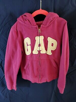 Girls Gap Purple Full Zip Hoodie Sweatshirt Size 12