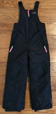 Kids CHAMPION Venture Dry SZ XS/TP 4-5, BLACK WINTER SKI SNOW PANTS BIB OVERALLS
