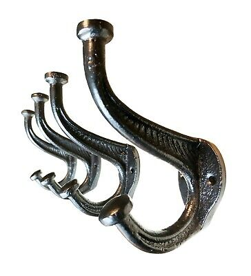 Rustic Coat Hooks Hardware, Wall Mounted Antique Cast Iron Farmhouse Style 4