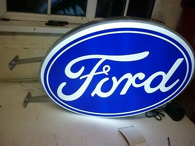 Ford Double Sided Illuminated Sign Garage Dealership Mk1 2 Escort Cosworth S1