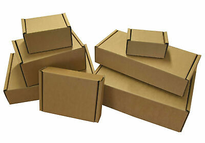 Brown Die Cut Folding Lid Postal Cardboard Boxes 7.5'' x 5.0'' x 1.8''