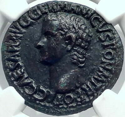 CALIGULA Ancient Original 37AD Rome Authentic Roman Coin NGC Certified i82502