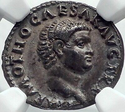 OTHO Very Rare 69AD Authentic Ancient Silver Roman Coin Securitas NGC  i82503