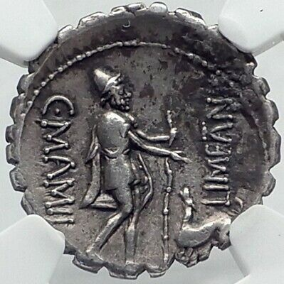 ODYSSEUS returns from ODYSSEY to DOG 82BC Silver Roman Republic Coin NGC i82505
