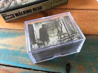 Walking Dead Road To Alexandria Complete 100 Card Base Set with Ultra Pro Case