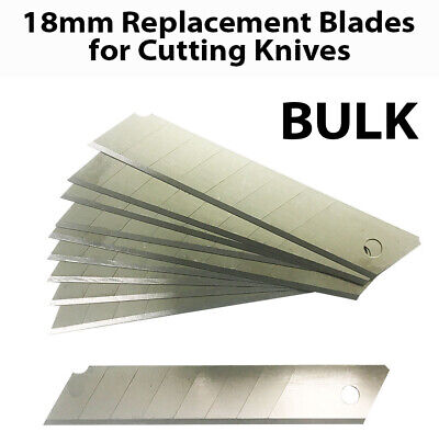 18mm Box Cutter Cutting Knife Knives Retractable Replacement Blades Bulk Lot