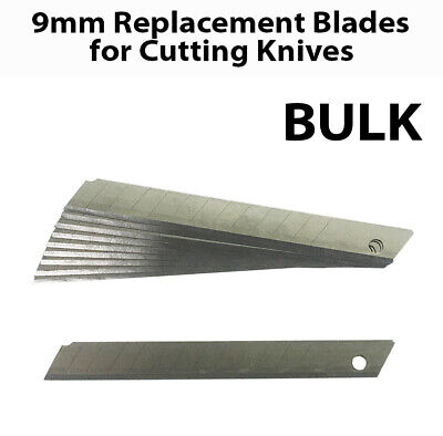 9mm Box Cutter Cutting Knife Knives Retractable Replacement Blades Bulk Lot