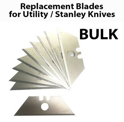 Stanley Utility Box Cutter Cutting Knife Retractable Replacement Blades Bulk Lot