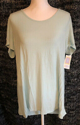 LuLaRoe Classic T 2XL Solid Light Blue Ribbed NWT