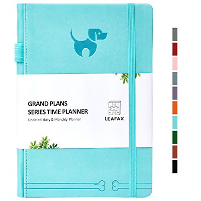 Undated Daily Planner-Agenda Book, Hourly/Day/Weekly/Monthly Planner, Personal -