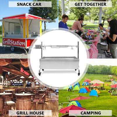 Charcoal Hog Roast Barbeque Spit Machine Oven Rotisserie BBQ Tasty 110cm