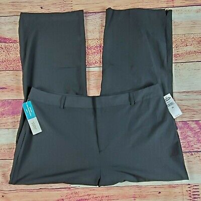 NWT Old Navy Capri Cropped Trouser Pants Womens Plus Size 16 Solid Black Stretch
