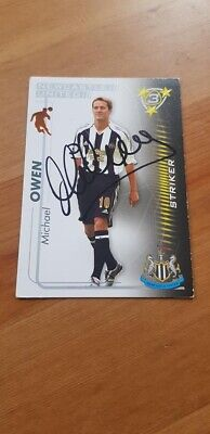 Signed Michael Owen Newcastle United Trading Card England Liverpool Man United