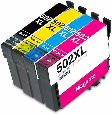 1 Set Ink Cartridges For Epson 502XL WF-2860DWF WF-2865DWF XP-5100 XP-5105