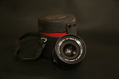 KONICA HEXANON AR 28mm F3.5 case, clean, fungus free, tested, MINT