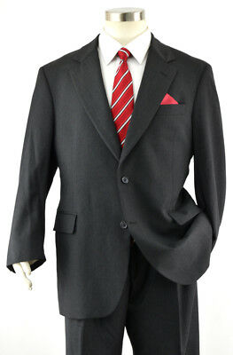 JOS A BANK Men's 42S Suit ~ Solid Charcoal Gray 2-Btn Signature Wool