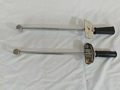 Lot of Two Torque Wrenches Promate 1/2 drive Sears Craftsman