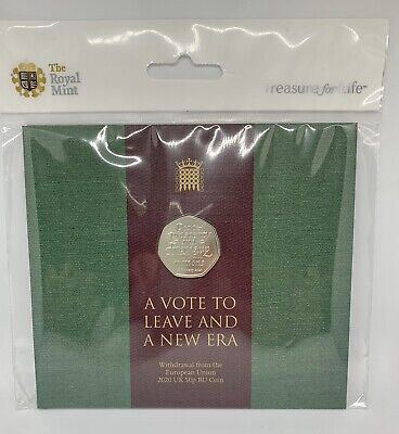 Brexit 50p Royal Mint Official BREXIT Coin Brilliant Uncirculated In Packaging