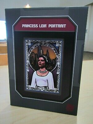 New 2020 Disney Parks Star Wars Galaxys Edge Princess Leia Portrait Framed !!!