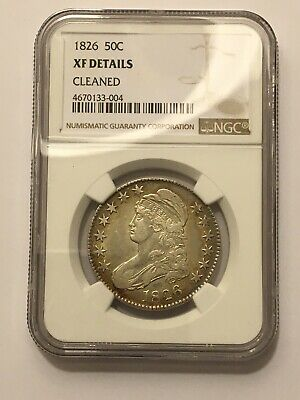 1826 capped bust Silver half dollar NGC XF Details Nice Toning Beautiful Coin