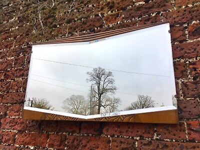 ART DECO Bevelled Oak Mirror c1920/30s mid century retro