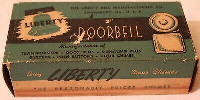 "Vintage Liberty 3"" Doorbell Bell Chimes No. 2003 Battery Or Transformer"