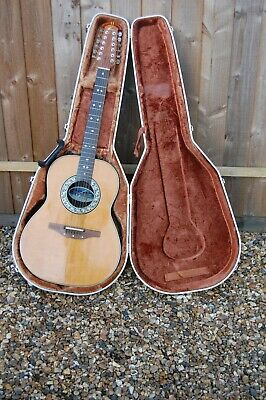 Vintage Ovation 1655 Custom Balladeer 12 String Electro Acoustic Guitar in Case