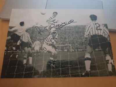 Signed Billy Mcneill 1965 Scottish Cup Final Winning Goal Photo Celtic Fc Legend