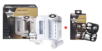 Tommee Tippee Closer to Nature Perfect Prep Machine - White & Healthcare Kit