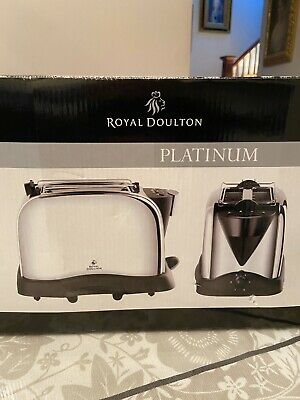 New Royal Doulton Platinum Electric Toaster