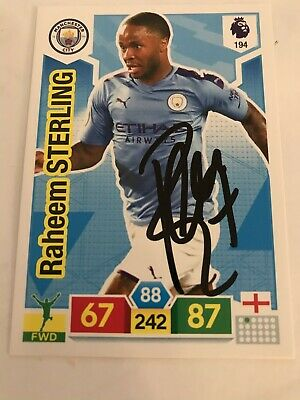 match attax 19/20 RAHEEM STERLING MANCHESTER CITY SIGNED AUTOGRAPHED 6