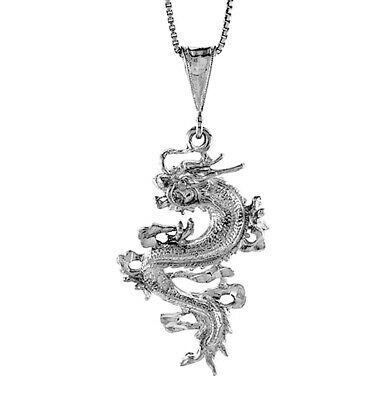 925 solid Sterling Silver Chinese Dragon pendant