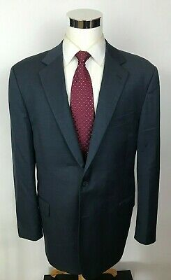 Joseph Abboud Current Super 160's Wool Blue Birdseye 2 Button Suit 46L 36x30