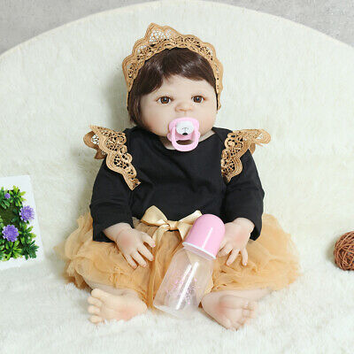 22'' Reborn Newborn Dolls Little Princess Lifelike Baby Silicone Vinyl Girl Toy