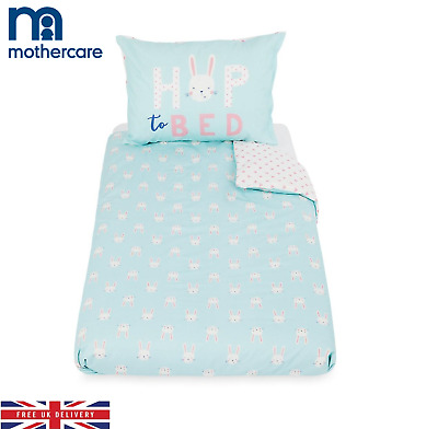 Mothercare Duvet Cover and Pillowcase For Cot & Toddler Bed Rabbits