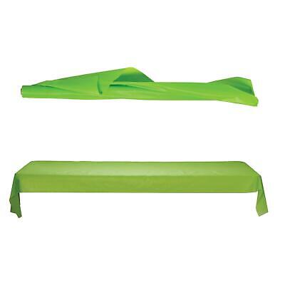 250ft Kiwi Green Large Plastic Banquet Disposable Party Table Roll Cover
