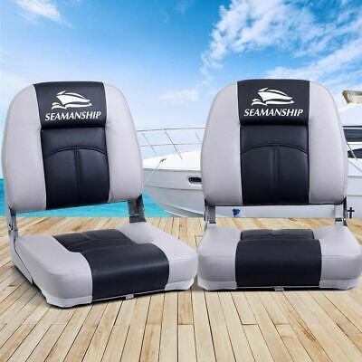 Seamanship 2X Folding Boat Seats Seat Marine Seating Set Swivels All Weather CG