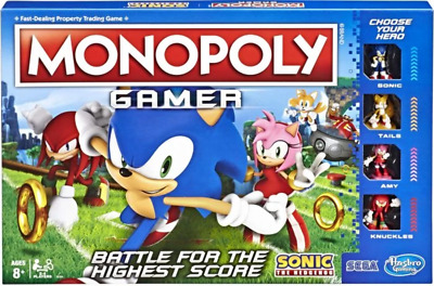 Monopoly - Sonic The Hedgehog Gamer Edition Board Game