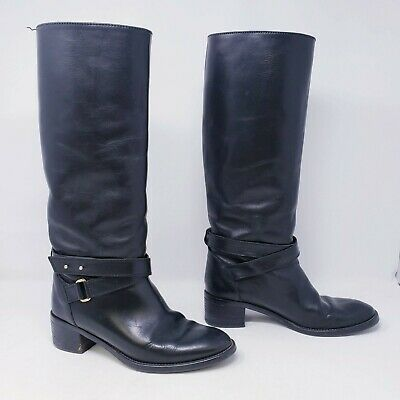 J Crew Parker Vachetta Leather Knee High Boots style 03010 NEW $358