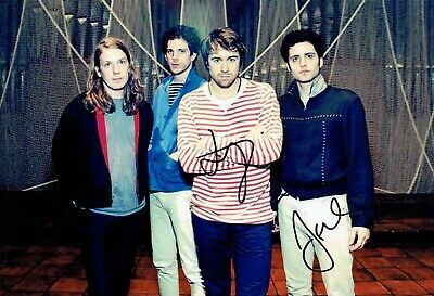 The VACCINES SIGNED 12x8 Photo 1 Justin HAYWARD-YOUNG Freddie COWAN AFTAL COA