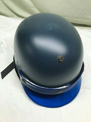Vintage Blue Smith And Wesson Riot Helmet With Visor Rare New In Original Box