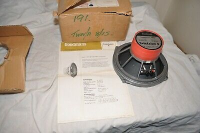 Goodmans Twin Axiom 8 8'' Full Range Speaker Boxed With Instructions #