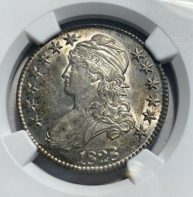 1828 Bust 50C Half Dollar NGC MS 61 Small 8, Square 2, Large Letters O-114A