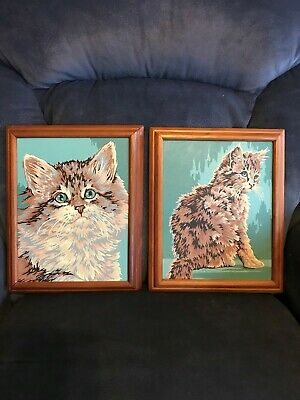 VINTAGE PAINT BY NUMBERS - KITTEN - CAT - Beautiful colors