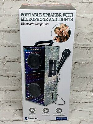 Lexibook Portable Karaoke Bluetooth Speaker With Microphone & LED Lights NEW