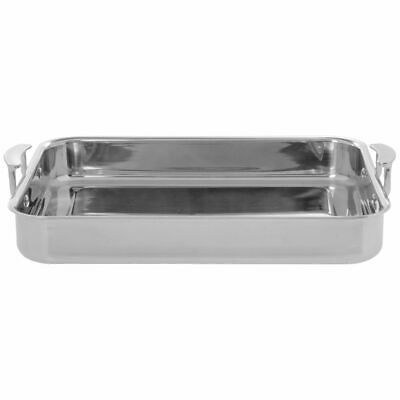 Vollrath Miramar® 4 3/5 qt Rectangular Tri-Ply Stainless Steel Roasting Pan with