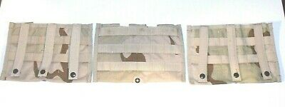 (3) US ARMY Military Surplus Assault MOLLE DCU DESERT Triple Mag Shingle Pouch