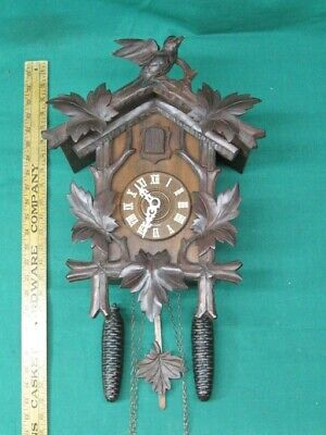 Rare Gebr. Lehnis of Hornberg Black Forest Cuckoo Clock 30 Hour Circa 1900-15