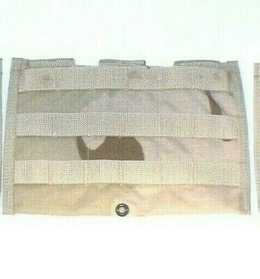 US ARMY Military Surplus Assault MOLLE DCU DESERT Triple Mag Shingle Pouch NOS